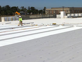 Single-Ply Reroofing at SAC 1 Data Center